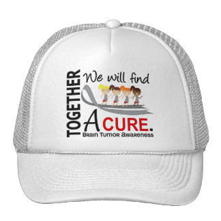 We Will Find A Cure Brain Tumor Mesh Hat