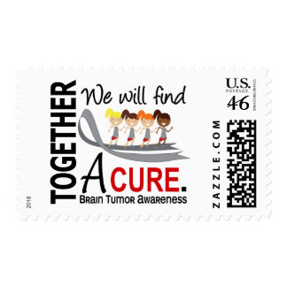 We Will Find A Cure Brain Tumor Stamps