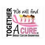We Will Find A Cure Breast Cancer Post Card