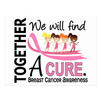 We Will Find A Cure Breast Cancer Postcard