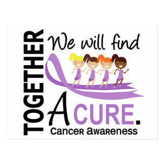 We Will Find A Cure Cancer Postcard