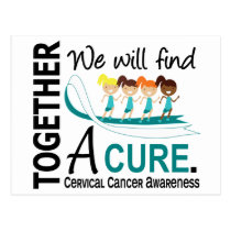 We Will Find A Cure Cervical Cancer Postcard