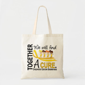 We Will Find A Cure Childhood Cancer Budget Tote Bag