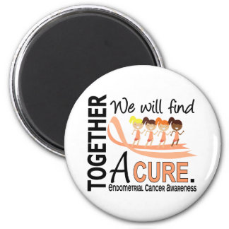 We Will Find A Cure Endometrial Cancer 2 Inch Round Magnet