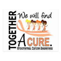 We Will Find A Cure Endometrial Cancer Postcard