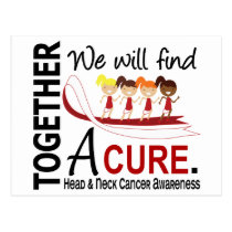 We Will Find A Cure Head And Neck Cancer Postcard