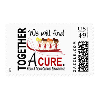 We Will Find A Cure Head And Neck Cancer Stamps