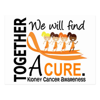 We Will Find A Cure Kidney Cancer Postcard