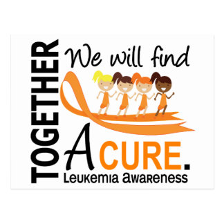 We Will Find A Cure Leukemia Postcard