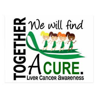 We Will Find A Cure Liver Cancer Postcard