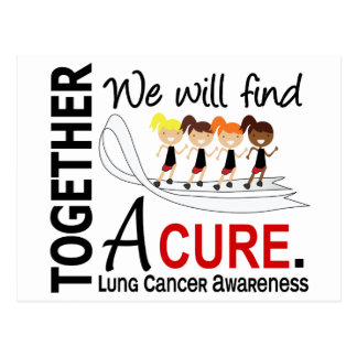 We Will Find A Cure Lung Cancer Postcard