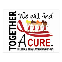 We Will Find A Cure Multiple Myeloma Postcard