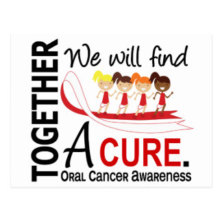 We Will Find A Cure Oral Cancer Postcard