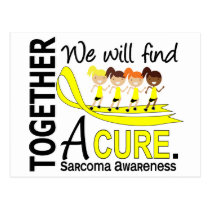 We Will Find A Cure Sarcoma Postcard