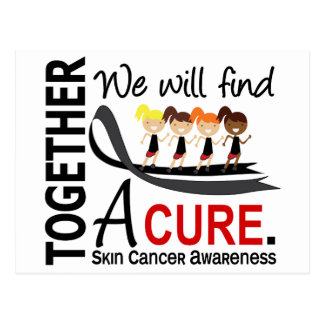 We Will Find A Cure Skin Cancer Postcard