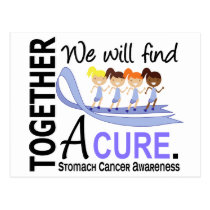 We Will Find A Cure Stomach Cancer Postcard