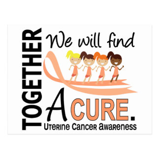 We Will Find A Cure Uterine Cancer Postcard
