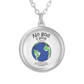 We will have to fix the world's problems ourselves round pendant necklace