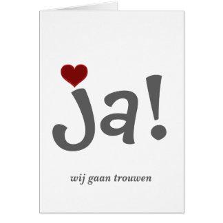We will marry trouwkaart card