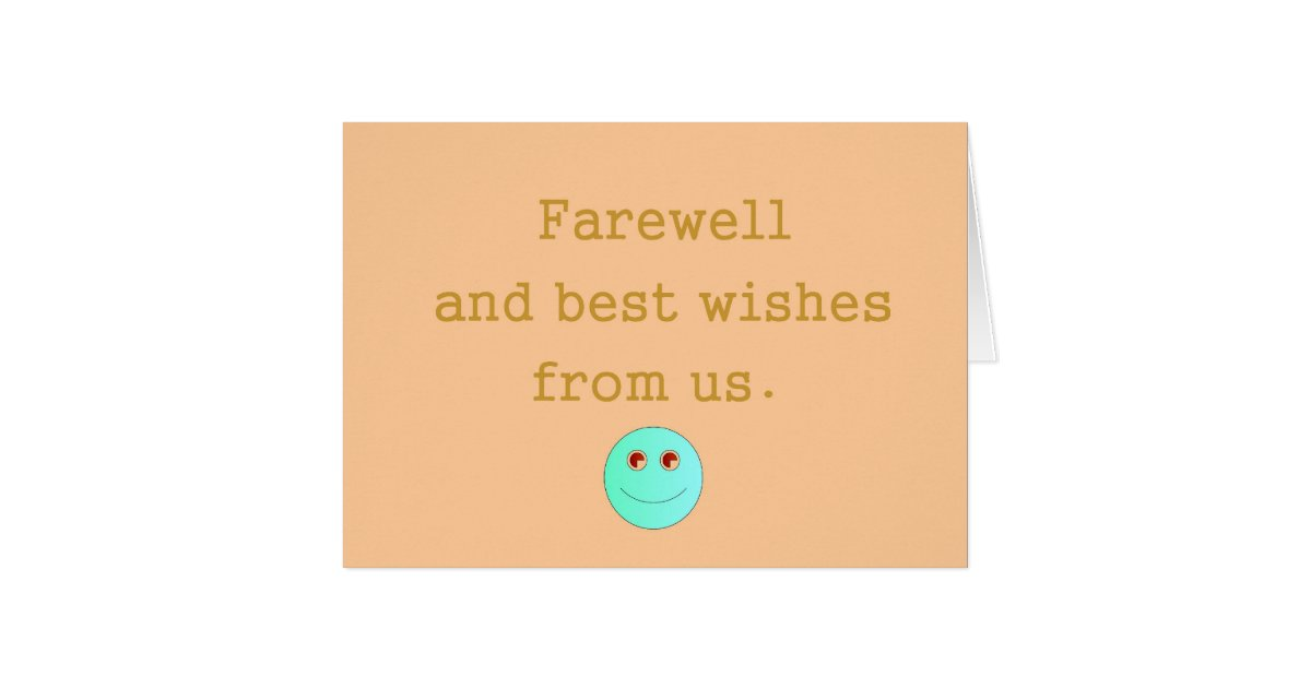 we will miss you farewell card  zazzle