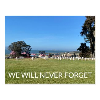 WE WILL NEVER FORGET POSTCARD