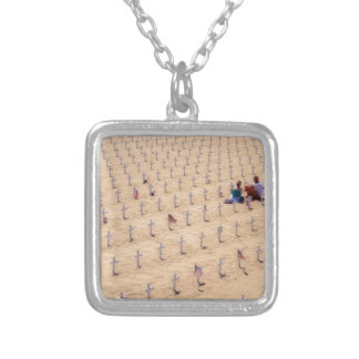 We Will Never Forget Square Pendant Necklace