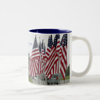 We will never forget... Two-Tone coffee mug