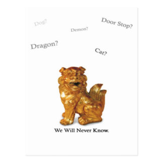 We Will Never Know postcard