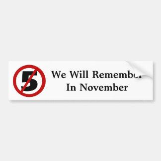 We Will Remember....Bumper Sticker