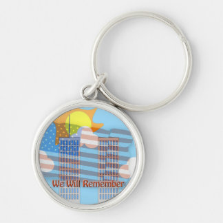 We Will Remember Silver-Colored Round Keychain