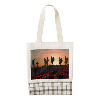 We Will Remember Them Zazzle HEART Tote Bag