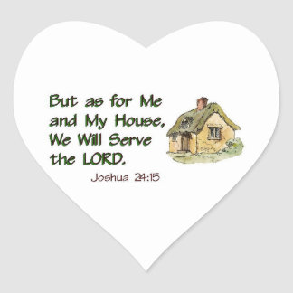 We Will Serve the LORD Heart Sticker