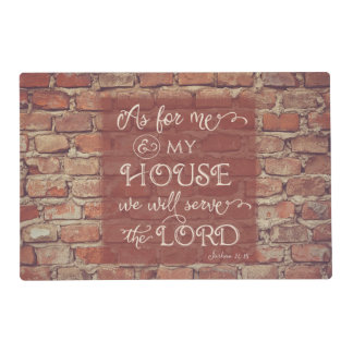 We Will Serve the Lord - Joshua 24:15 Placemat