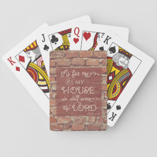 We Will Serve the Lord - Joshua 24:15 Poker Deck