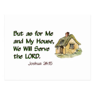 We Will Serve the LORD Postcard