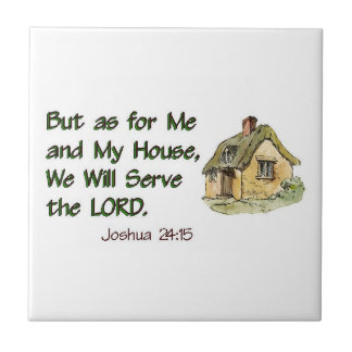 We Will Serve the LORD Small Square Tile