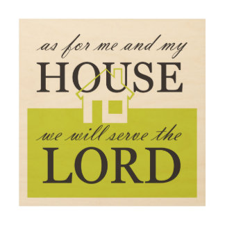 We Will Serve the LORD Wood Wall Decor