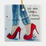 We Wish Shoe a Merry Christmas Ornament