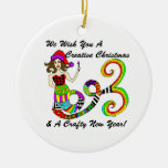 We Wish You A Creative Christmas Mermaid Double-Sided Ceramic Round Christmas Ornament