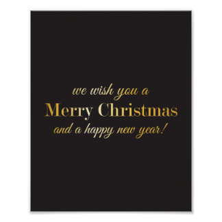 We wish you a Merry Christmas and Happy New Year Poster