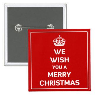 We Wish You A Merry Christmas Button