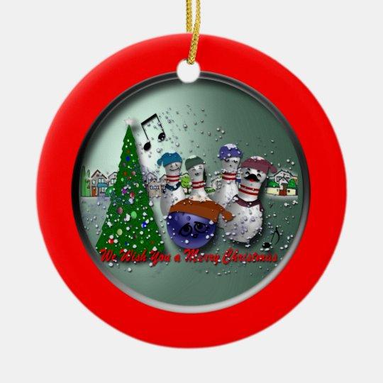We Wish You a Merry Christmas Ceramic Ornament