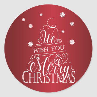 We wish you a Merry Christmas Classic Round Sticker