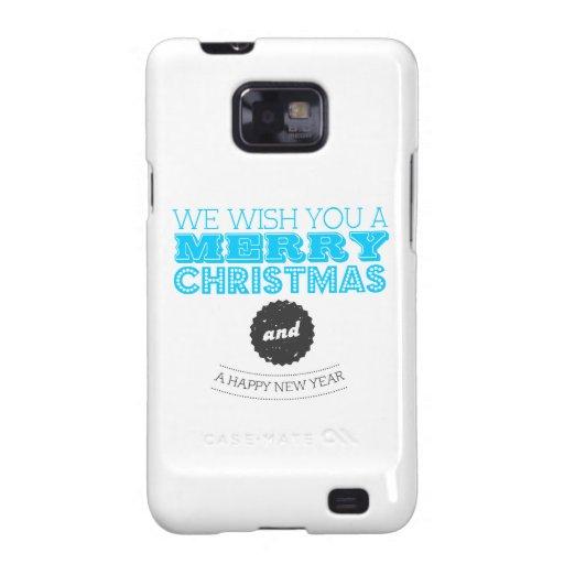 We wish you a Merry Christmas & Happy New Year Samsung Galaxy SII Fundas