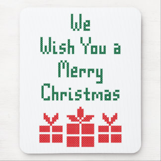 We Wish you a Merry Christmas Mouse Pad