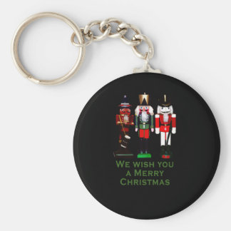We Wish You a Merry Christmas Nutcrackers Basic Round Button Keychain