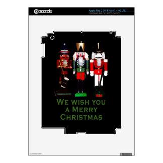 We Wish You a Merry Christmas Nutcrackers iPad 3 Skin