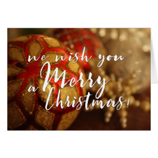 We Wish You a Merry Christmas Photo Typography Card