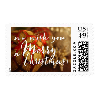 We Wish You a Merry Christmas Photo Typography Postage