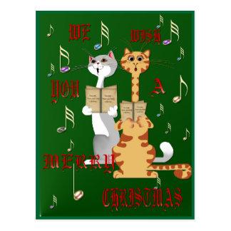 We Wish You A Merry Christmas Postcard